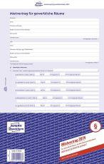 2874 Mietvertrag - gewerbliche Räume, DIN A4, selbstdurchschreibend, 1 Pack = 5 Stück, blau