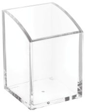 Acryl-Stifteköcher, 1 Fach, 70 x 104 x 70 mm, glasklar