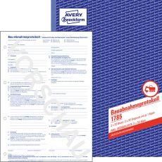 1785 Bauabnahmeprotokoll - A4, SD, 2x 32 Blatt
