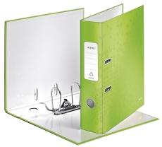 1005 Qualitäts-Ordner WOW. mit Schlitzen. A4. breit. grün
