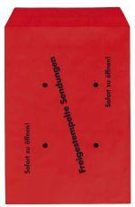 Freistempler-Taschen B4 , 100 g/qm, rot , 250 Stück
