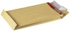 Faltentaschen C4, ohne Fenster, mit 40 mm-Falte und Klotzboden, 130 g/qm, braun, 10 Stück