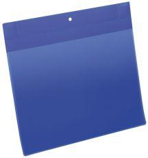 Kennzeichnungstasche - magnetisch, A4 quer, PP, dokumentenecht, dunkelblau, 10 Stück
