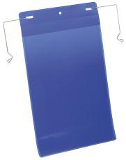 Kennzeichnungstasche mit Drahtbügel - A4 hoch, 50 Stück