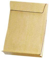 Faltentaschen E4, ohne Fenster, mit 40 mm-Falte und Klotzboden, 140 g/qm, braun, 100 Stück