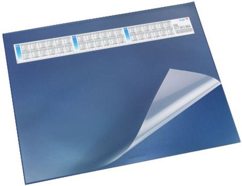 Schreibunterlage DURELLA DS - mit Vollsichtauflage, Kalender, 65 x 52 cm, blau