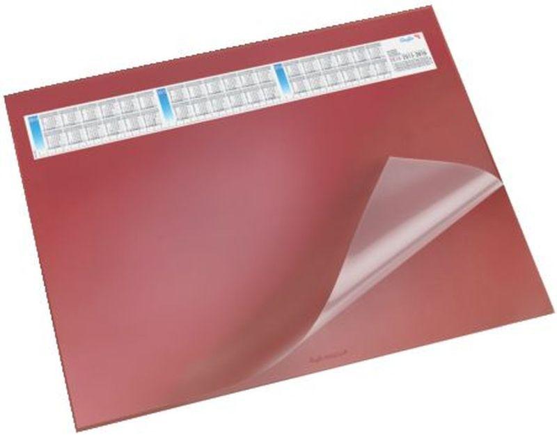 Schreibunterlage DURELLA DS - mit Vollsichtauflage, Kalender, 65 x 52 cm, rot