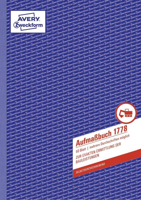 Aufmaßbuch - DIN A4, SD, 50 Blatt
