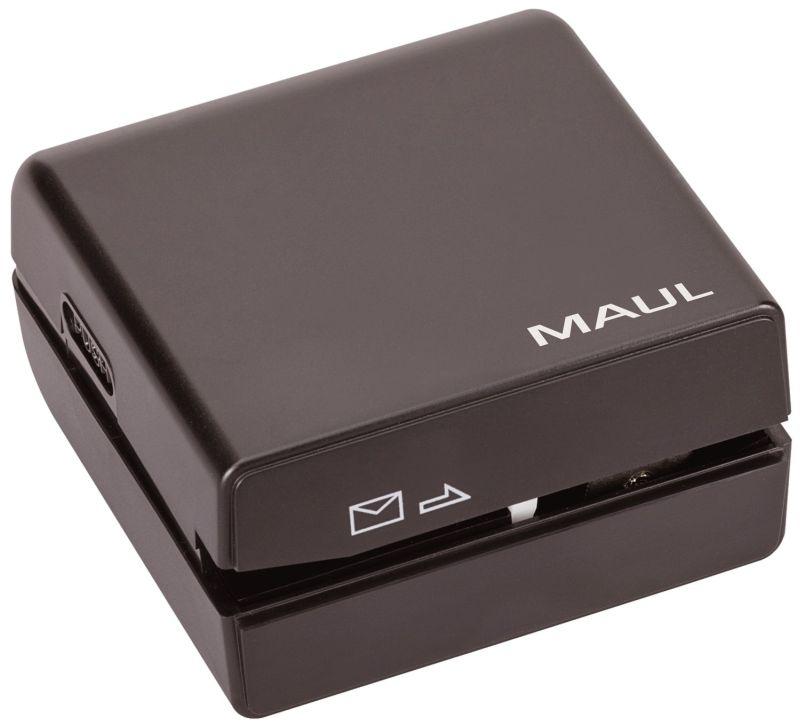 Brieföffner elektrisch, 7,4 x 7 x 4 cm, schwarz