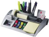 Schreibtischorganizer silbermetallic befüllt