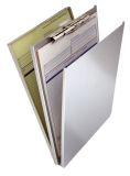 Formularhalter A-Holder A4 Aluminium mit Fach und Zwischenlage