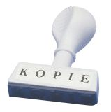 Stempel Text Kopie - Abdruck 45 mm