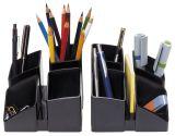 Schreibtisch-Köcher SCALA mit 4 Fächern, schwarz