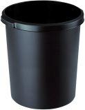 Papierkorb 30 Liter, rund, 2 Griffmulden, extra stabil, schwarz