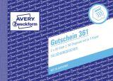 Gutschein - DIN A6 quer, 1. und 2. Blatt bedruckt, 2x50 Blatt