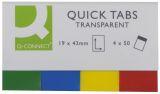 Haftmarker Transparent - 19 x 43 mm, 4 x 40 Streifen