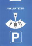 Parkscheibe nach StVO aus Karton, Maße (BxH): 11 x 15 cm
