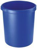 Papierkorb 30 Liter, rund, 2 Griffmulden, extra stabil, blau