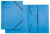 3981 Eckspannermappe, A4, Füllhöhe 350 Blatt, Primärkarton, blau