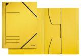 3981 Eckspannermappe, A4, Füllhöhe 350 Blatt, Primärkarton, gelb