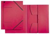 3981 Eckspannermappe, A4, Füllhöhe 350 Blatt, Primärkarton, rot