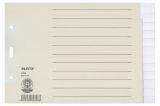 1226 Register - Tauenpapier, blanko, A5 quer Überbreite, 12 Blatt, grau