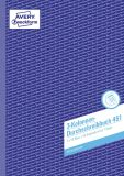Durchschreibbuch, 3 Kolonnen, 2.Bl. zum Verbleib im Buch, DIN A4