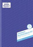 Durchschreibbuch, 4 Kolonnen, 2.Bl. zum Verbleib im Buch, DIN A4