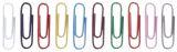 Briefklammer, Metall, kunststoffüberzogen, 26 mm, sortiert, Dose 1000 Stück