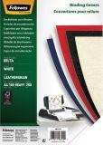 Deckblätter - Lederstruktur, A4, weiß, 100 Stück