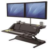 Sitz-Steh Workstation Lotus DX - höhenverstellbar, schwarz