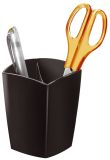 Stifteköcher Happy - schwarz, 74 x 74 x 95 mm