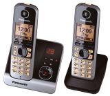 Telefon KX-TG6722G schnurlos titan/schwarz