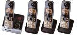 Telefon KX-TG6724GB schnurlos titan/schwarz