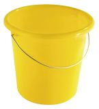 Eimer - Plastik, rund, 10 Liter, gelb