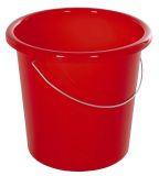 Eimer - Plastik, rund, 10 Liter, rot