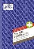 312 Meldeblock Erste Hilfe - A5, 50 Blatt