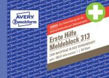 313 Meldeblock Erste Hilfe - A6 quer, 50 Blatt