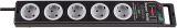 Super Solid Überspannungsschutz-Steckdosenleiste 5-fach schwarz/lichtgrau