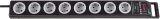 Super Solid Überspannungsschutz-Steckdosenleiste 8-fach schwarz/lichtgrau