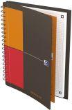 Meetingbook Connect - 2:1 Collegeblock und Gummizugmappe, B5, kariert, 80 Blatt, 4 Eckmarkierungen zum scannen
