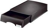 5210 Briefkorb Plus mit Schublade, A4 quer, Polystyrol, schwarz
