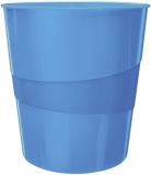 5278 Papierkorb WOW - 15l. Polystyren. blau metallic