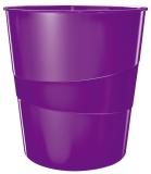 5278 Papierkorb WOW - 15l. Polystyren. violett metallic