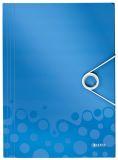 4599 Eckspannermappe WOW - A4, PP, blau metallic