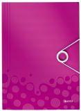 4599 Eckspannermappe WOW - A4, PP, pink metallic