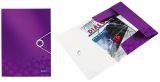4599 Eckspannermappe WOW - A4, PP, violett