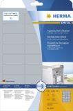 4222 Typenschildetiketten A4 silber 63,5x29,6 mm extrem stark haftend Folie matt 675 St.