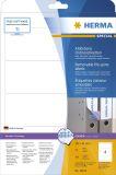 10165 Ordneretiketten A4 weiß 192x61 mm Movables/ablösbar, 100 Stück