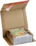 Klassische Versandverpackung zum Wickeln 147x126x55 mm (für CDs), braun